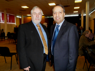 Phil Knowles and Zuffar Haq in Oadby