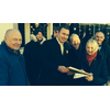 Cllr Michael Mullaney, fellow councillors and residents collecting petitions for the better treatment of Mental Health