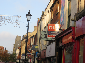 Tory Misrule A - derelict shops in the heart of Rugby
