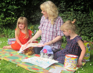Julia Cambridge with toddlers