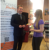 Michael Mullaney talking to local apprentice Chantelle Michel at a recent business event in Hinckley